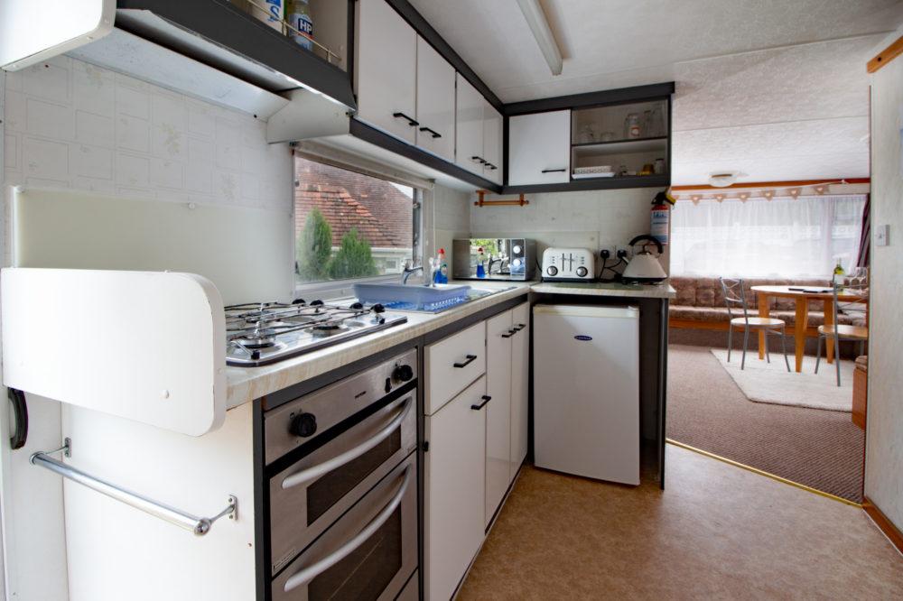 Kitchen Area of Caravan