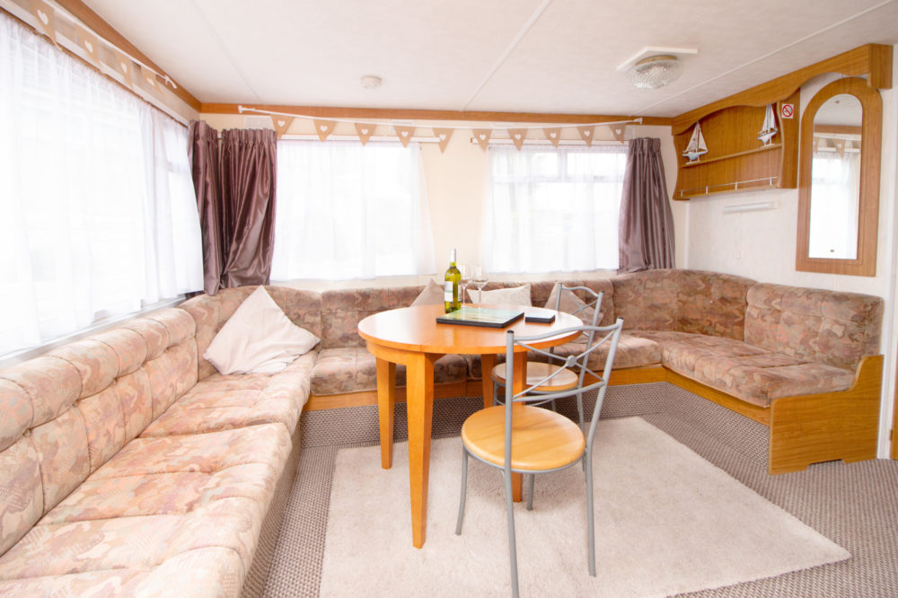 Living Area of Caravan