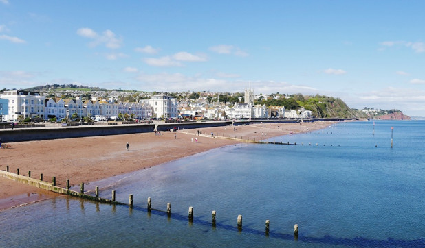 Teignmouth coastline in South Devon